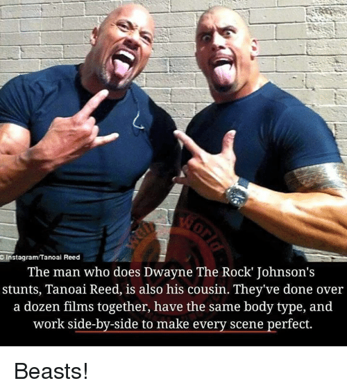 Instagramtanoai Reed The Man Who Does Dwayne The Rock