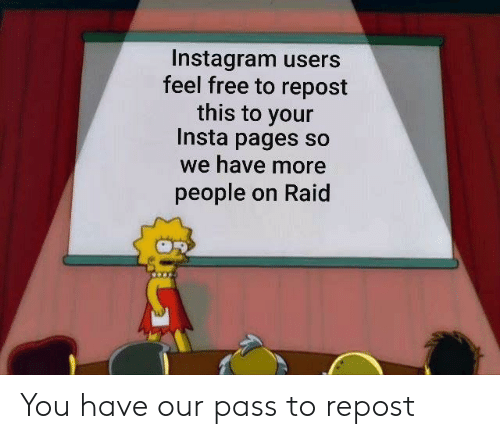 Instagram Users Feel Free to Repost This to Your Insta Pages So We
