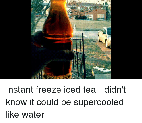Instant Freeze Iced Tea - Didn't Know It Could Be