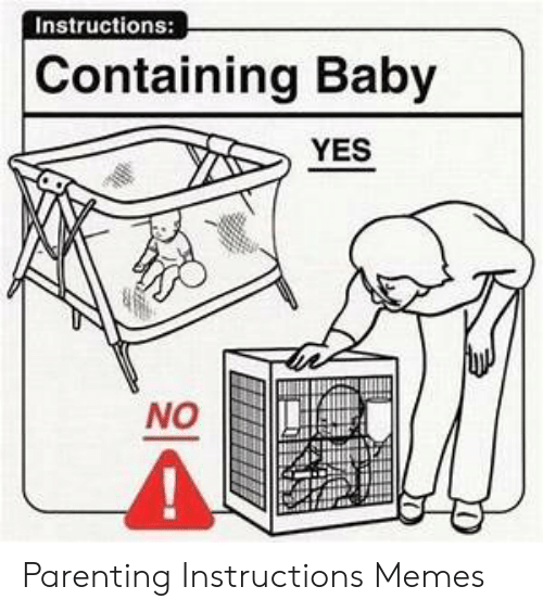 Instructions Containing Baby Yes No Parenting Instructions Memes