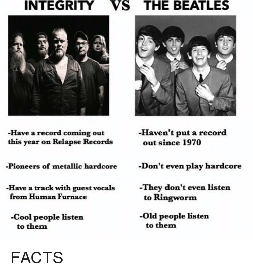 integrity vs the beatles havent put a record have a 13880646 ✅ 25 best memes about the beatles the beatles memes,Beatles Meme