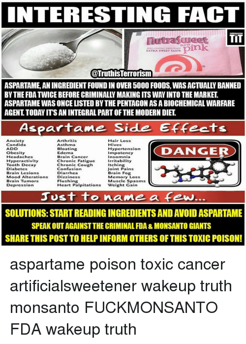 INTERESTING FACT TIT Pink EXTRA SWEET TASTE ASPARTAME
