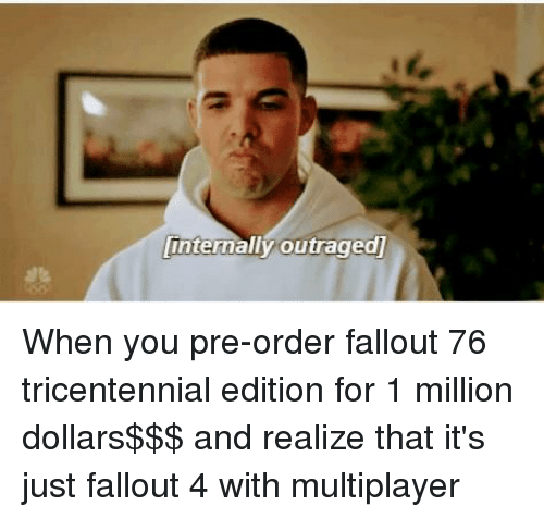 Fallout 4, Video Games, and Fallout: intermally outraged