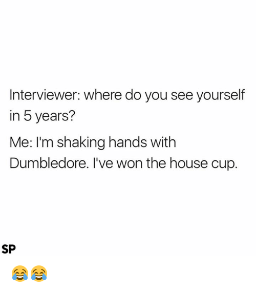 dumbledore house and you interviewer where do you see yourself in 5