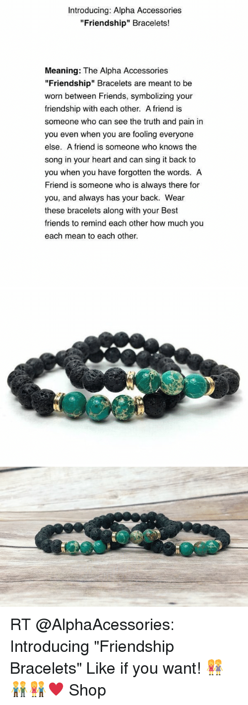 Introducing Alpha Accessories Friendship Bracelets Meaning The