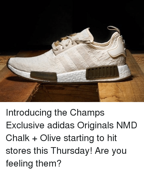ff98ab76fc33 Introducing the Champs Exclusive Adidas Originals NMD Chalk + Olive ...