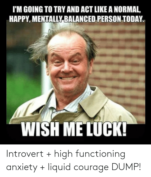 Introvert, Anxiety, and Courage: Introvert + high functioning anxiety + liquid courage DUMP!