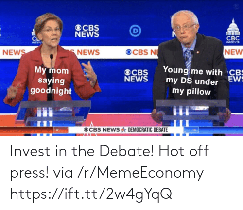 Debate, Invest, and Via: Invest in the Debate! Hot off press! via /r/MemeEconomy https://ift.tt/2w4gYqQ