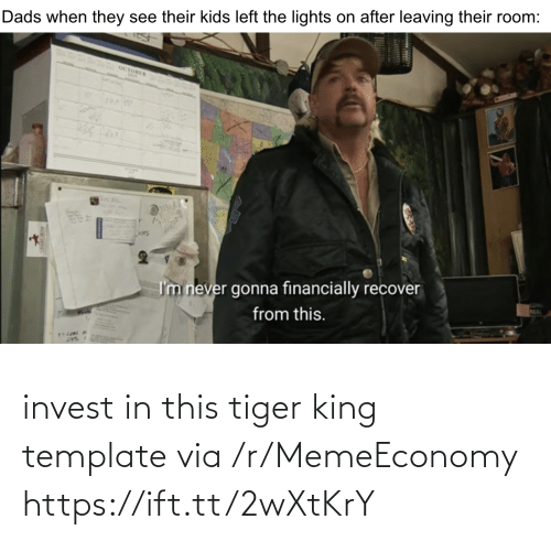 Tiger, Invest, and King: invest in this tiger king template via /r/MemeEconomy https://ift.tt/2wXtKrY