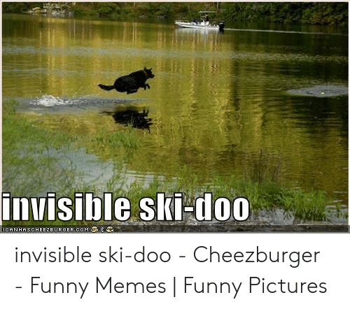 Funny, Memes, and Pictures: invisible ski doo invisible ski-doo - Cheezburger - Funny Memes | Funny Pictures