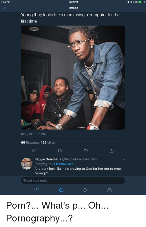 Ipad 722 Pm 63 Tweet Young Thug Looks Like A Mom Using A Computer