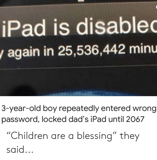 Disable Ipad