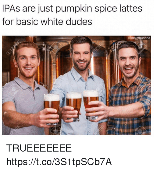 IPAs Are Just Pumpkin Spice Lattes for Basic White Dudes TRUEEEEEEE