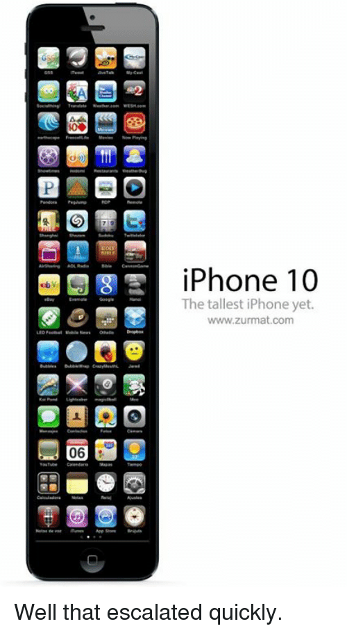 Iphone Com And Www IPhone 10 The Tallest Yet