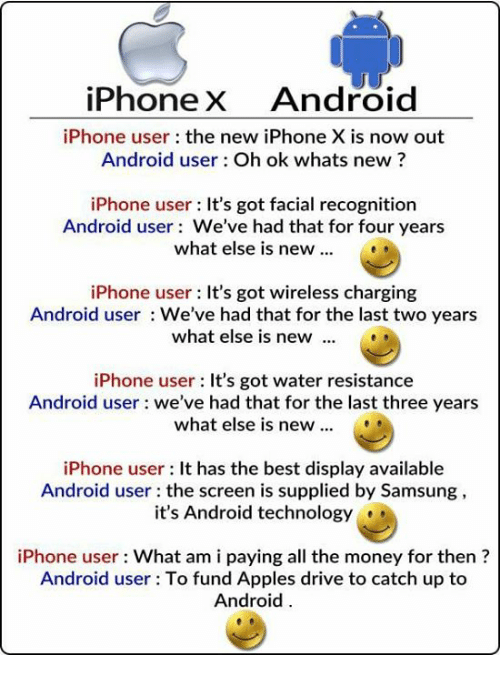 Android Iphone And Money Iphonex User The New X Is