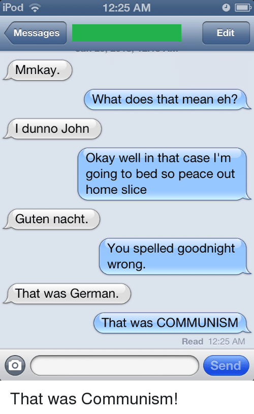 What does eh mean in texting