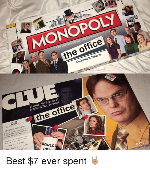 Michael Scott Monopoly And The Office Ir Fast Dealing Property