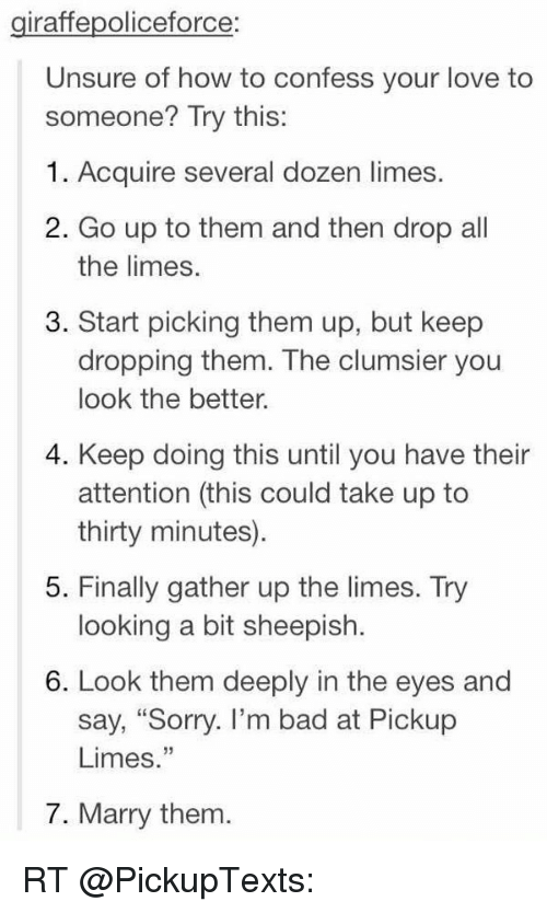 how to confess love