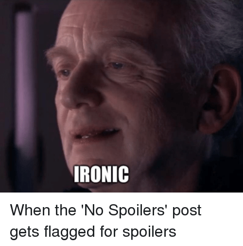 Ironic, Star Wars, and Post: IRONIC