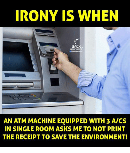 irony is when baci benchers an atm machine equipped with 6158895 ✅ 25 best memes about atm machine atm machine memes