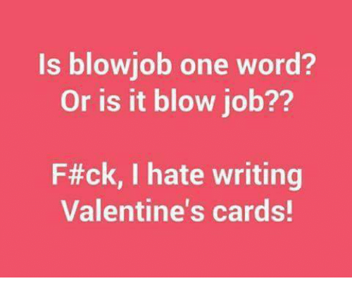 Valentine blow job