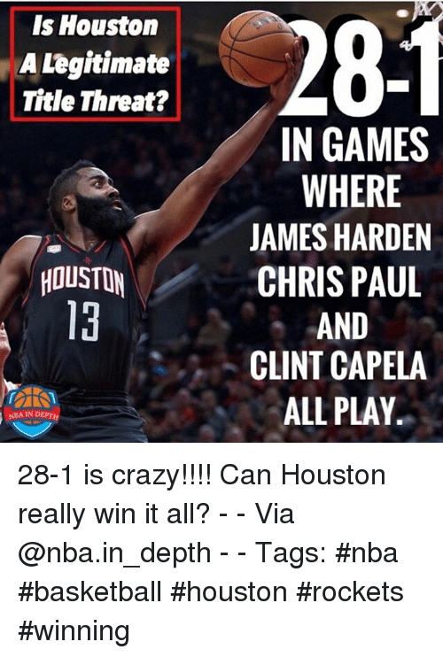 Is Houston A Legitimate Title Threat 281 In Games Where James