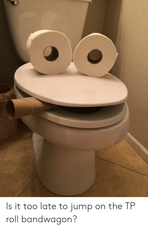 Funny, Jump, and Too Late: Is it too late to jump on the TP roll bandwagon?