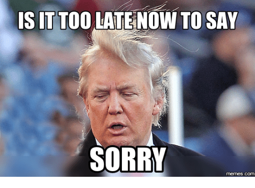 Funny I M Sorry Meme : Is it too latenow to say sorry memesco meme on me