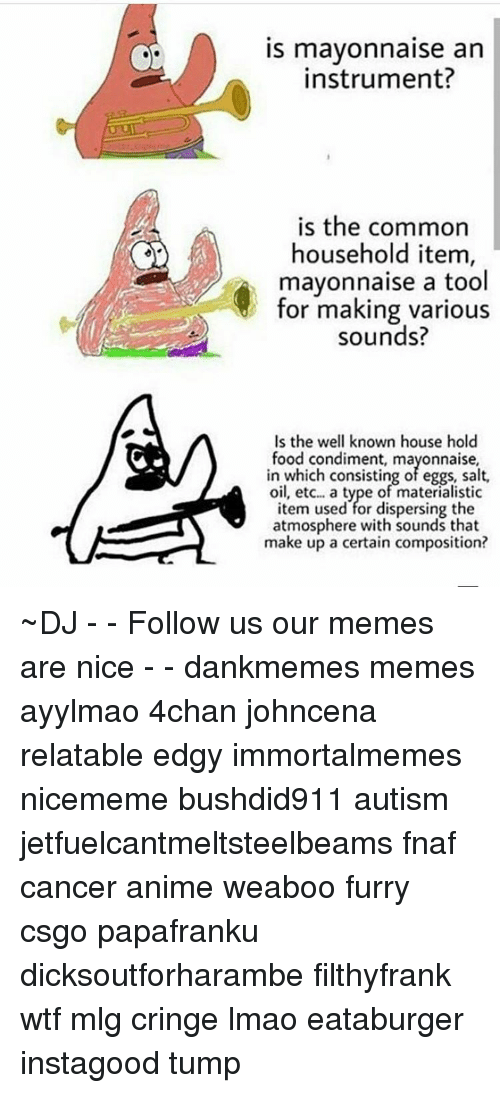 Memes Common And Tool IS Mayonnaise An Instrument Is The Household