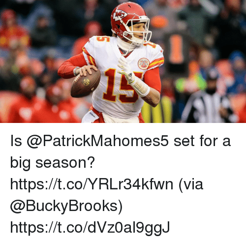 Memes, 🤖, and Big: Is @PatrickMahomes5 set for a big season? https://t.co/YRLr34kfwn (via @BuckyBrooks) https://t.co/dVz0al9ggJ