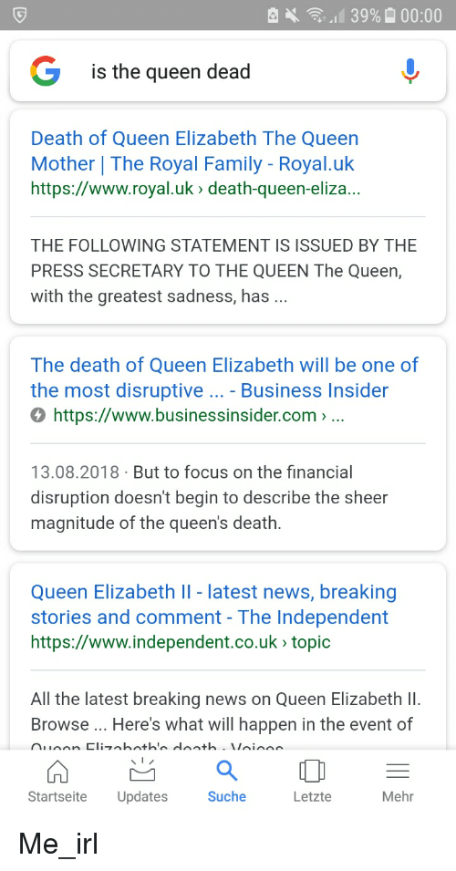 Is the Queen Dead Death of Queen Elizabeth the Queen Mother | the