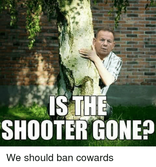 The Shooter, Gone, and Shooter: IS THE  SHOOTER GONE? We should ban cowards