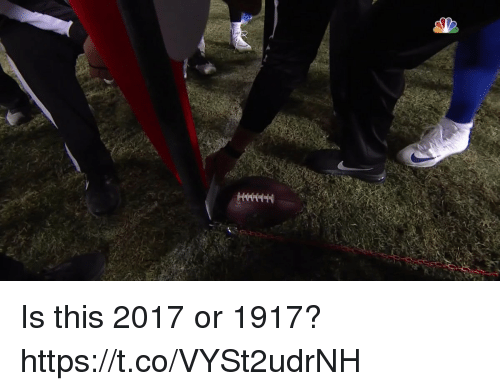 Football, Nfl, and Sports: Is this 2017 or 1917? https://t.co/VYSt2udrNH