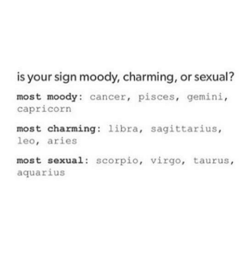 Sexual the zodiac most is which sign What is