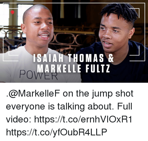 Sizzle: ISAIAH THOMAS&  MARKELLE FULTZ  PO .@MarkelleF on the jump shot everyone is talking about.   Full video: https://t.co/ernhVIOxR1 https://t.co/yfOubR4LLP