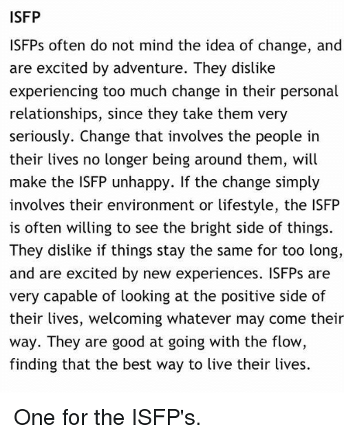 Isfp relationships
