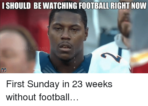 Meme, Memes, and Nfl: ISHOULD RIGHT NOW  NFL MEMES First Sunday in 23 weeks without football…