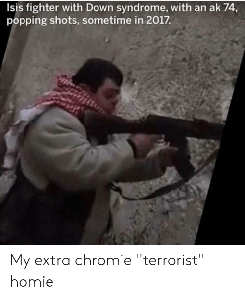 Isis Fighter With Down Syndrome With an Ak 74 Popping Shots