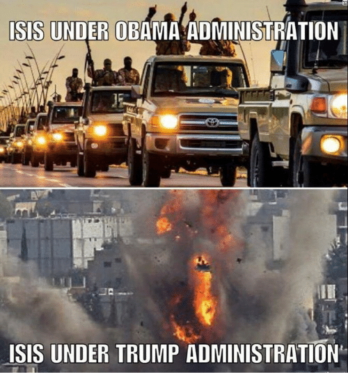 Isis, Obama, and Trump: ISIS UNDER OBAMA ADMINISTRATION  LISIS UNDER TRUMP ADMINISTRATION r