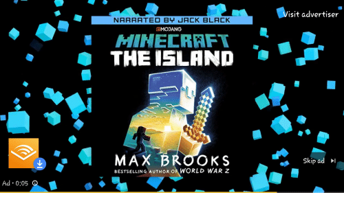 isit advertiser naraated by jack black cmodang minecraft the island