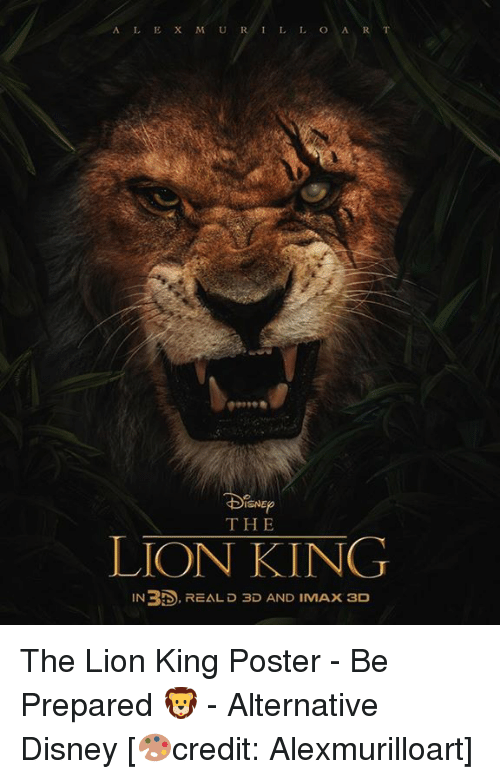 Isne The Lion King In Rts Real D 3d And Imax 3d The Lion