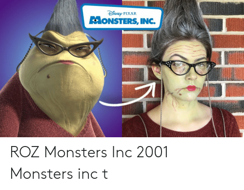 ISNEp PIXAR ONSTERS INC ROZ Monsters Inc 2001 Monsters Inc T