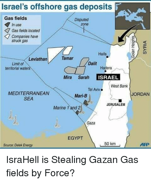 Israel's Offshore Gas Deposits Gas Fields Disputed in Use