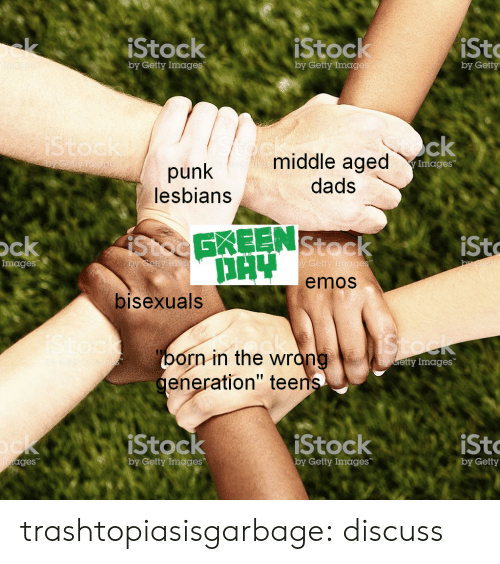 """Target, Tumblr, and Blog: iStock  iStock  st  by Getty Imag  by Getty Imag  by Getty  middle aged  dads  Images  punk  lesbians  Stoc  EKEEN  Stoc  emos  ck  sto  Images  by Getty  bisexuals  orn in the wrón  eneration"""" tee  etty Images  Stock  by Getty Images  StockiSto  ges  by Getty Images  by Getty trashtopiasisgarbage: discuss"""