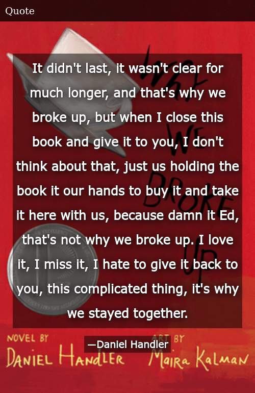 Why we broke up book quotes
