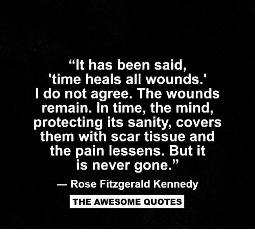 It Has Been Said Time Heals All Wounds Do Not Agree The Wounds