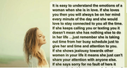 How to make a woman understand you love her