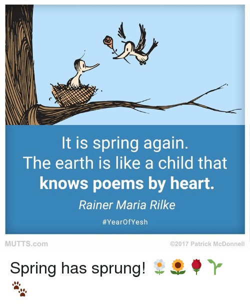 It Is Spring Again The Earth Is Like A Child That Knows