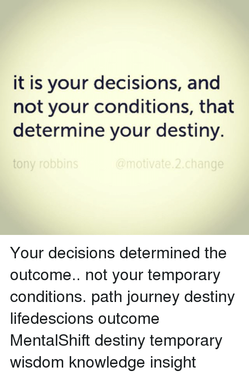Not Your Journey But Your Destiny
