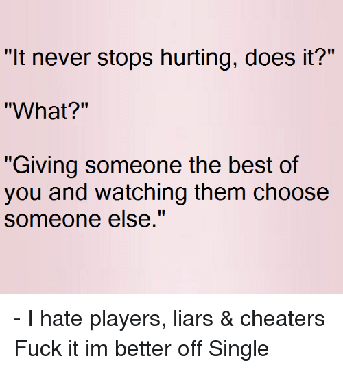 Does a cheater ever stop cheating